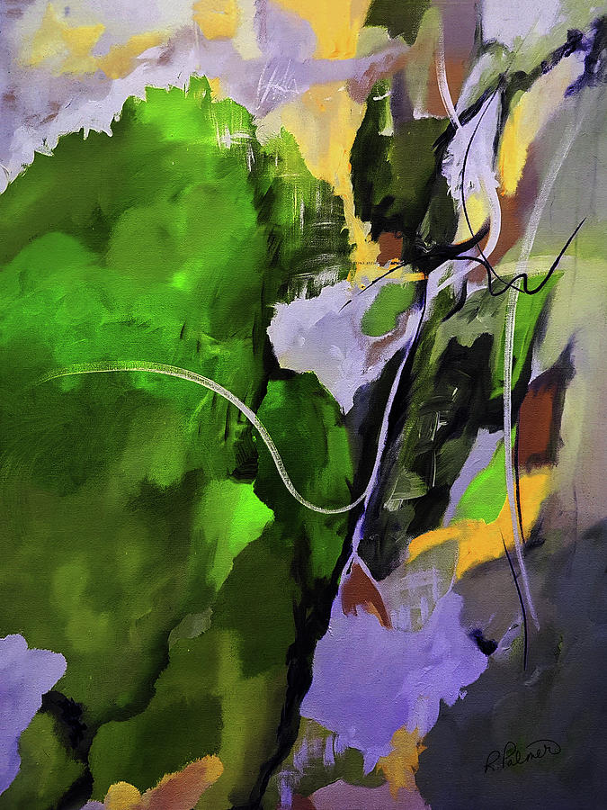 Abstract Painting - Lush Island by Ruth Palmer