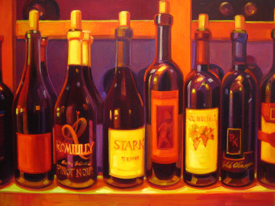 Wine Painting Painting - Lush by Penelope Moore
