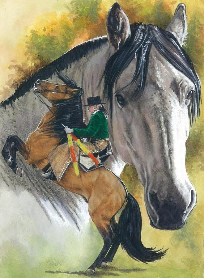 Horses Mixed Media - Lusitano by Barbara Keith