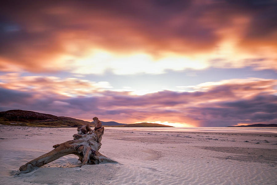 Luskentyre beach on Harris at sunset by Neil Alexander Photography