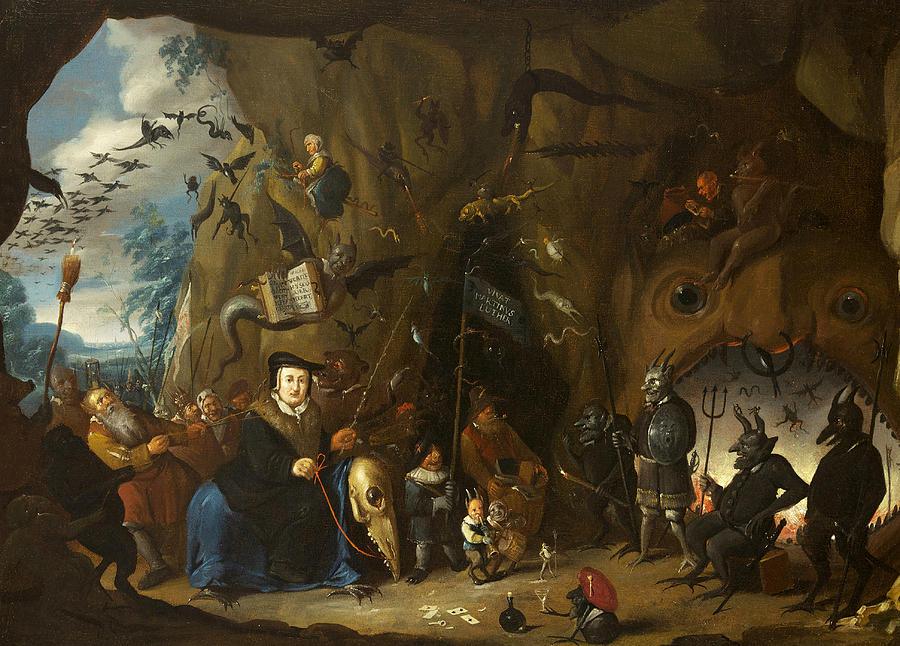 Luther In Hell Painting By Egbert Van Heemskerck Ii