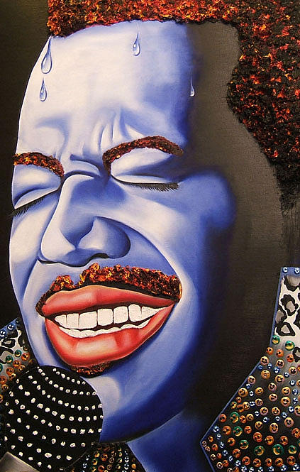 Portrait Painting - luther Smiles by Nannette Harris