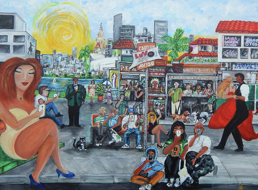 Little Havana Painting - Luvlyfe.xyz - Love Life- Ama La Vida by Jorge Delara