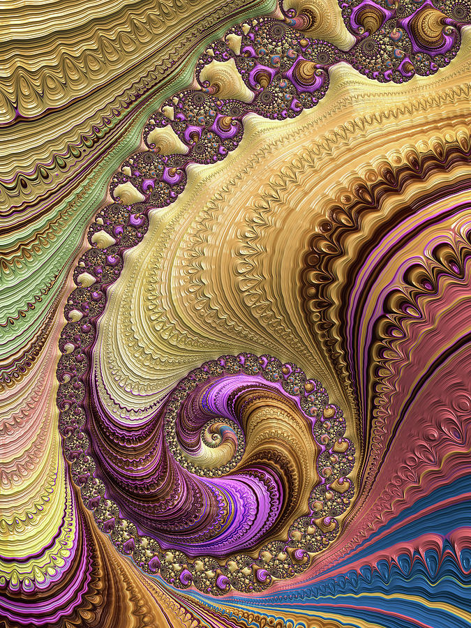 Luxe colorful fractal spiral by Matthias Hauser