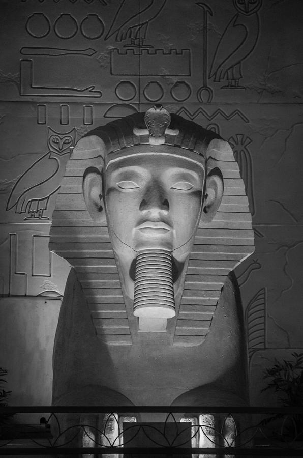 2015 Photograph - Luxor Interior 2 B W by Teresa Mucha