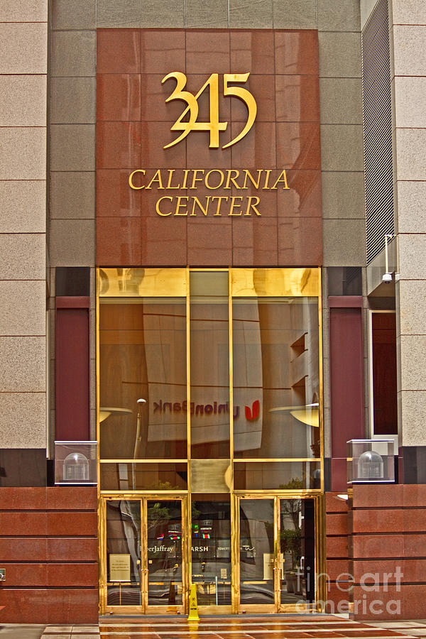 Bank Photograph - Luxurious Front Entrance In The Financial District In San Francisco by Mark Hendrickson