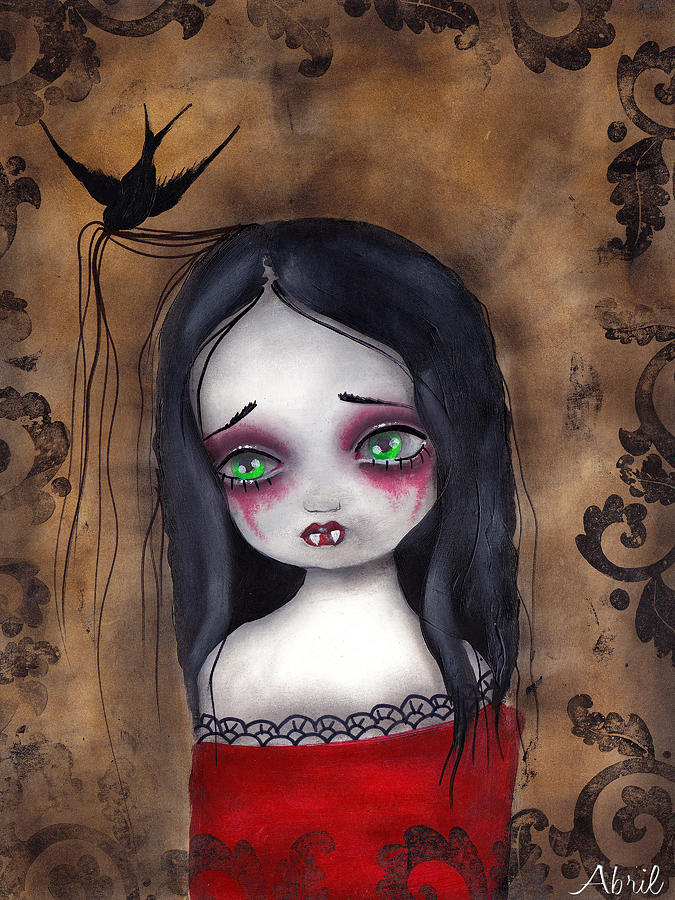 Gothic Painting - Luzie by  Abril Andrade Griffith