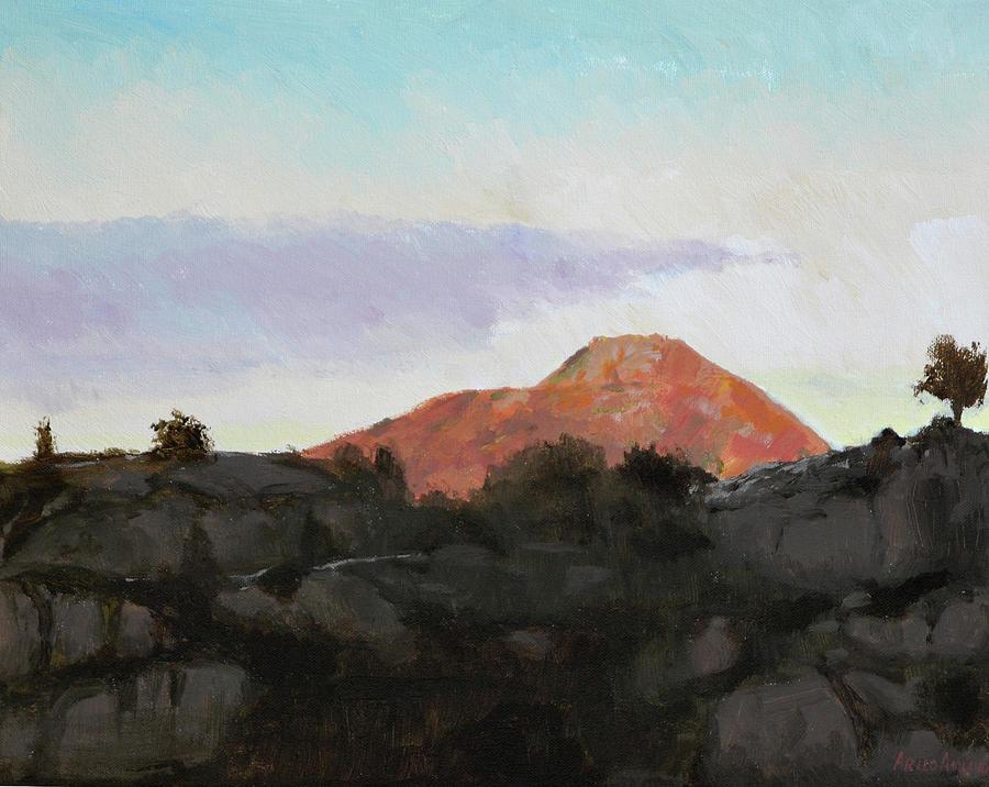 Acrylic Painting - Lyderhorn II by Arild Amland