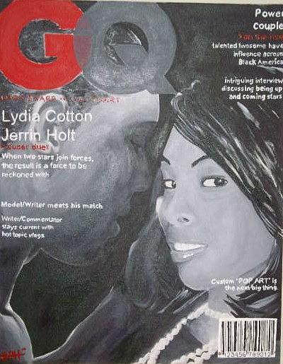 Lydia Cotton And Jerrin Holt Power Couple Painting by Desmond  Haynes