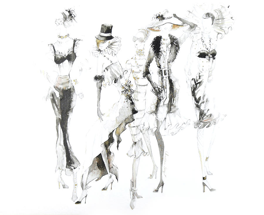 Fashion Illustration Painting - Lydia No.7 by Christine Song