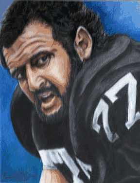Portrait Painting - Lyle Alzado by Kenneth Kelsoe