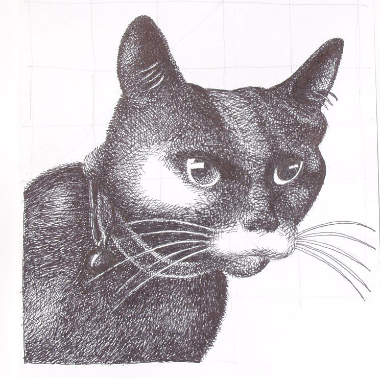 Cat Painting - Lyman by William May