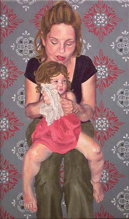 Portraiture Painting - Lyndze And Mother by Marianne Devine