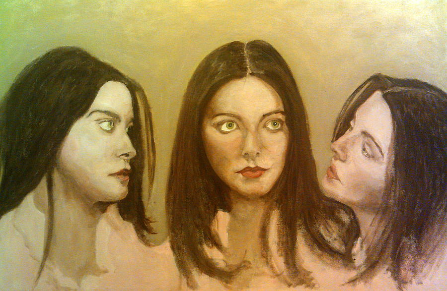 Triptych Painting - Lynne Frederick Triptych by Peter Gartner