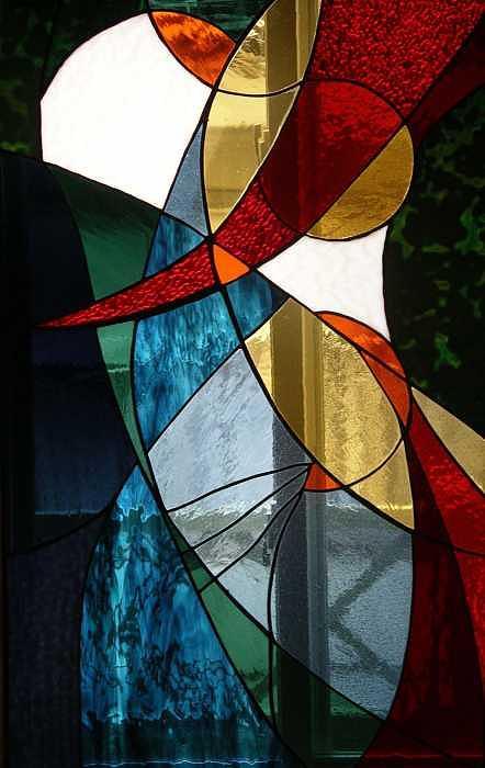 Abstract Design Glass Art - Lynns Love by Jolinda Marshall
