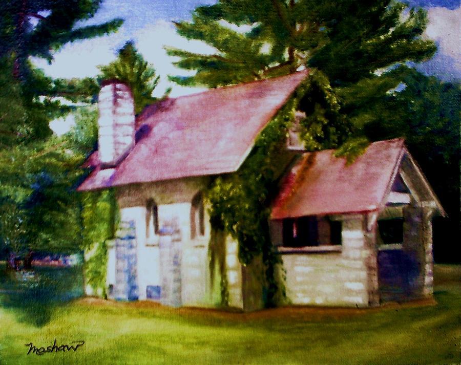 Church Painting - Lyons Falls Church by Sheila Mashaw