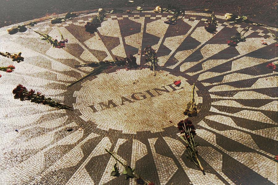 John Lennon Photograph - Lyrics by JAMART Photography