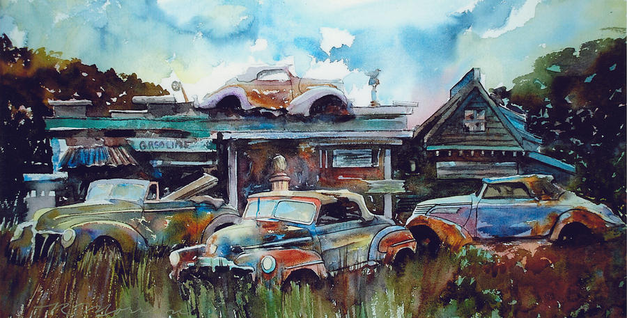 Fords Painting - Lytton Station by Ron Morrison