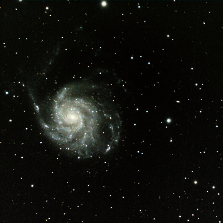 Square Photograph - M-101, The Pinwheel Galaxy by A. V. Ley
