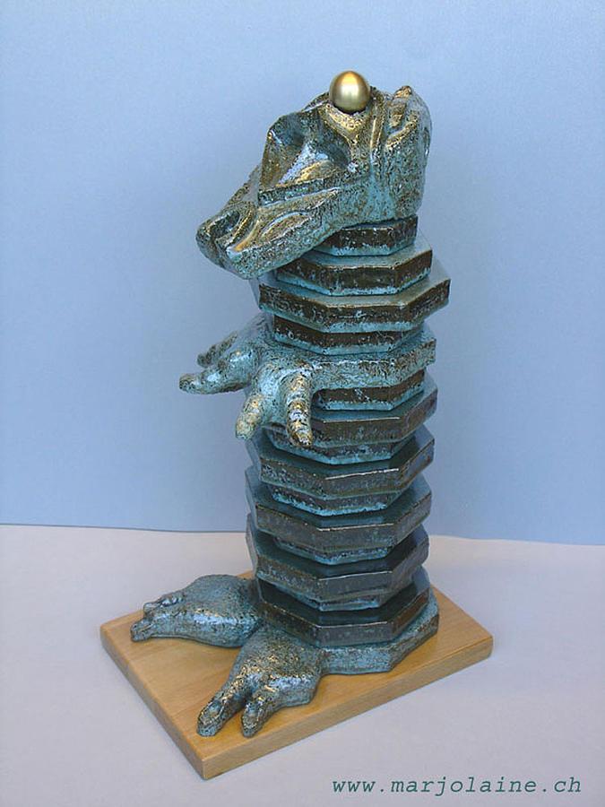 M 84  Sobek  2006 Sculpture by Marjolaine ESCHER