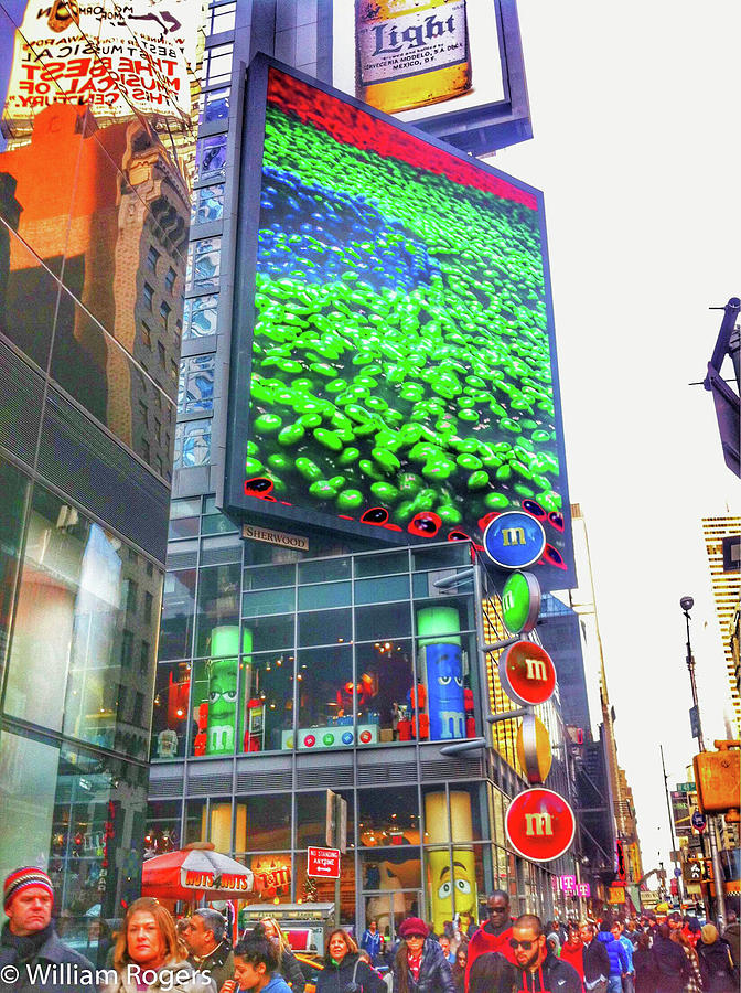 M And M Store In New York City Photograph By William E Rogers