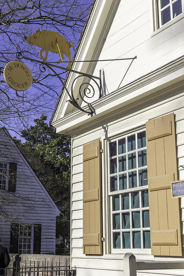 Grocer Photograph - M Dubois Grocer Colonial Williamsburg Virginia by Teresa Mucha