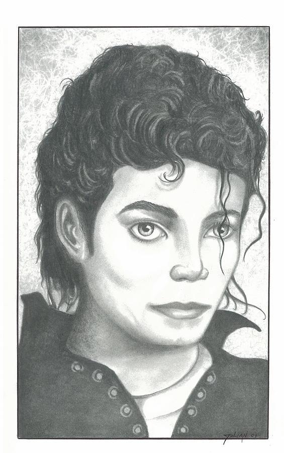 Popart Drawing - M. J. by Julian  B