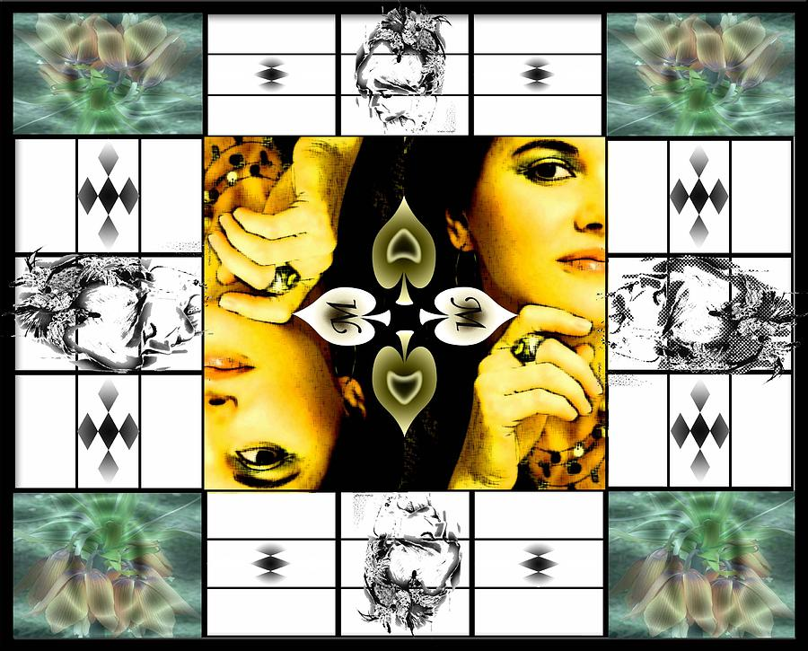 M Of Spades Digital Art by Afrodita Ellerman