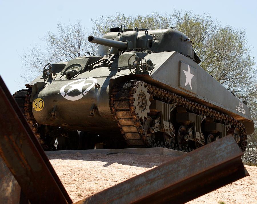 Army Photograph - M4 Sherman Tank by Jean Macaluso