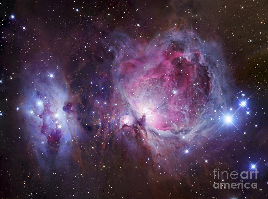 Astronomy Photograph - M42, The Orion Nebula Top, And Ngc by Robert Gendler