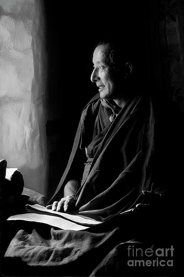 ma Shee Lama of Sera Gompa - Tibet by Craig Lovell