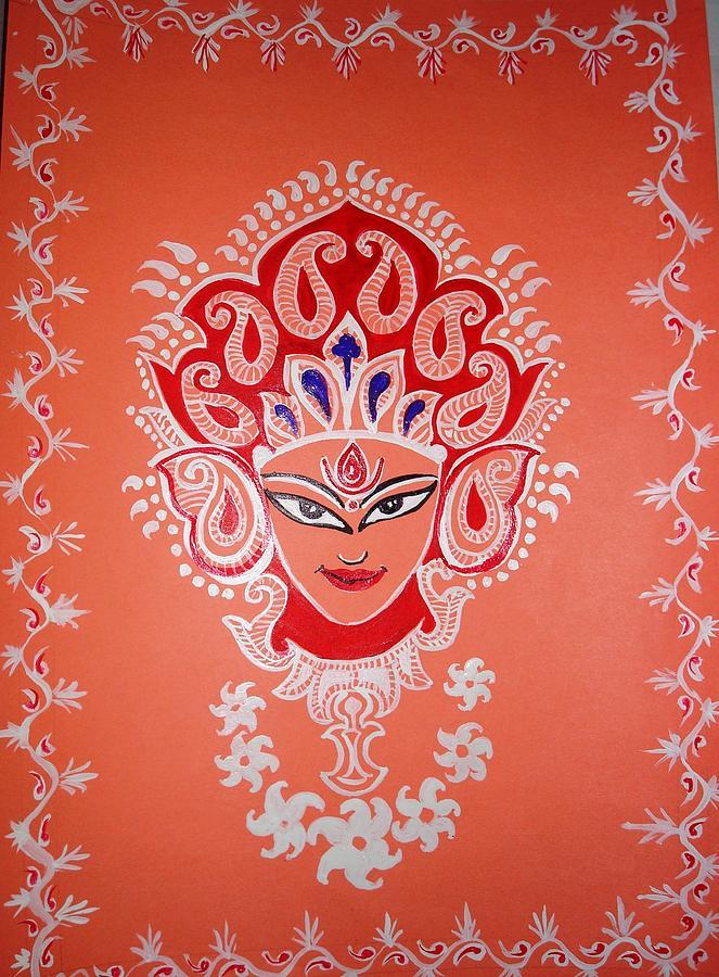 Indian Painting - Maa Durga by Sajila Garg