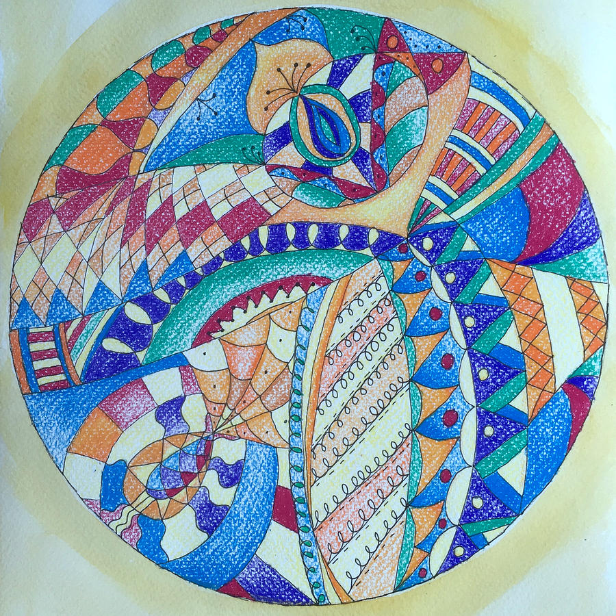 Maa Mandala Drawing by Whitney Christmas