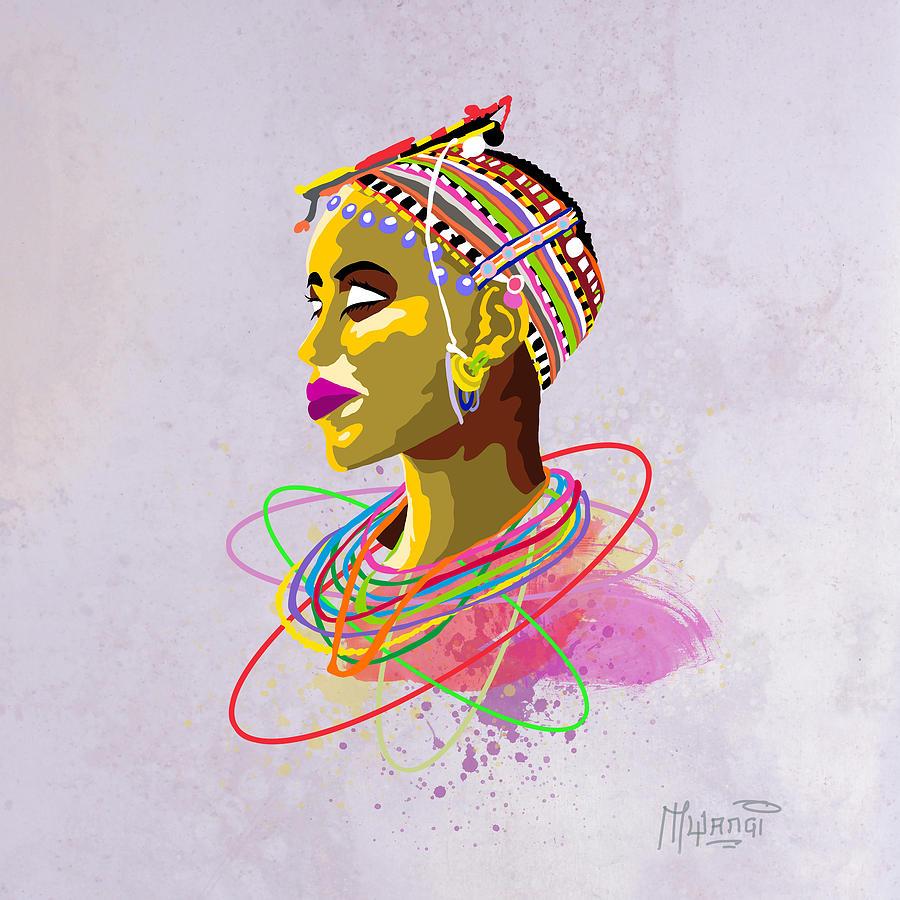 Maasai Beauty Painting By Anthony Mwangi