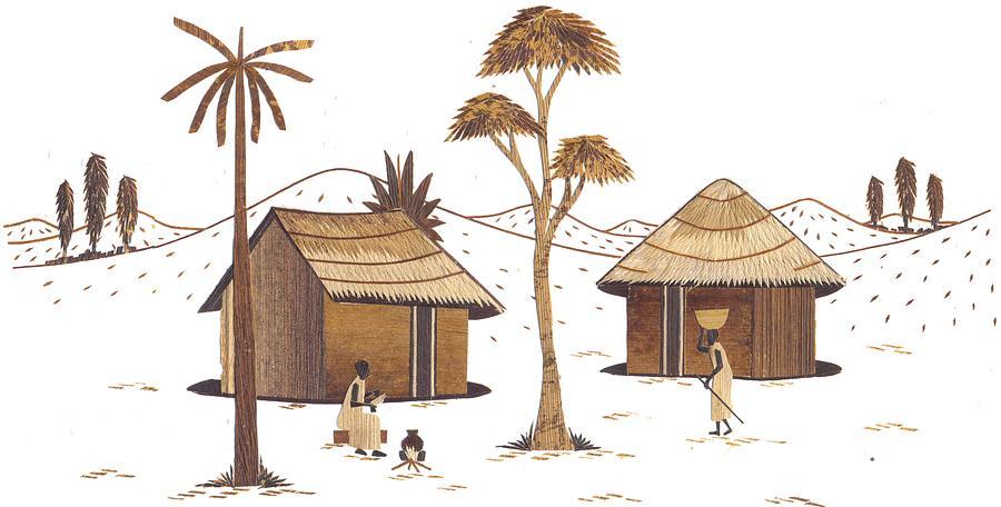 Maasai Boma Painting by Otto Mlanda