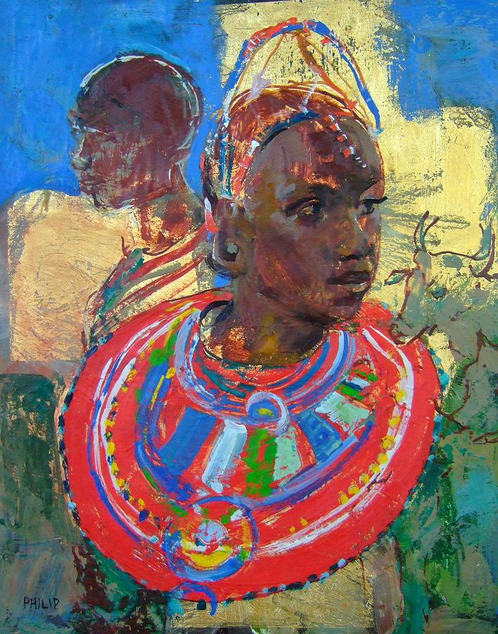 Painting On A Wall Maasai Women