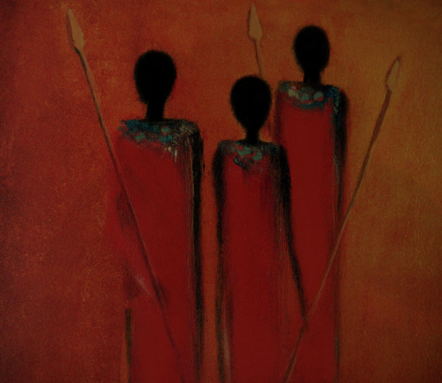 Maasai Trio  by David Dehner