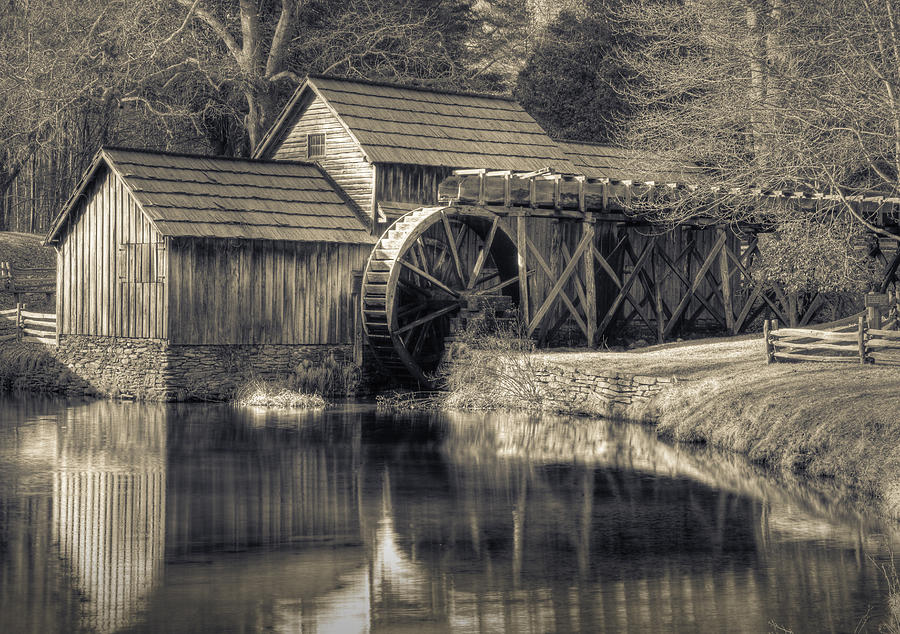 Sepia Photograph - Mabry Mill by Harry H Hicklin