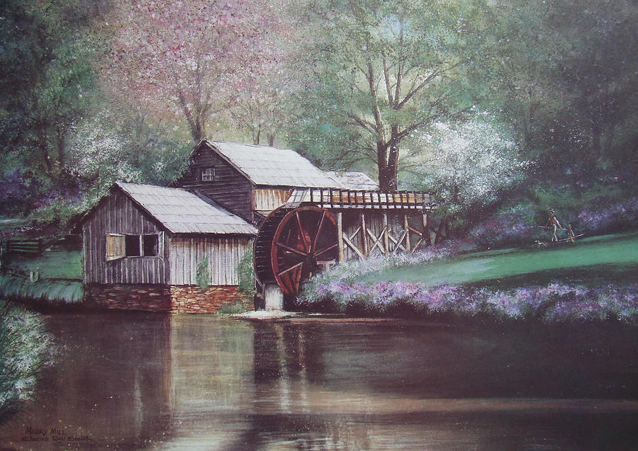 Blue Ridge Parkway Painting - Mabry Mills by Charles Roy Smith