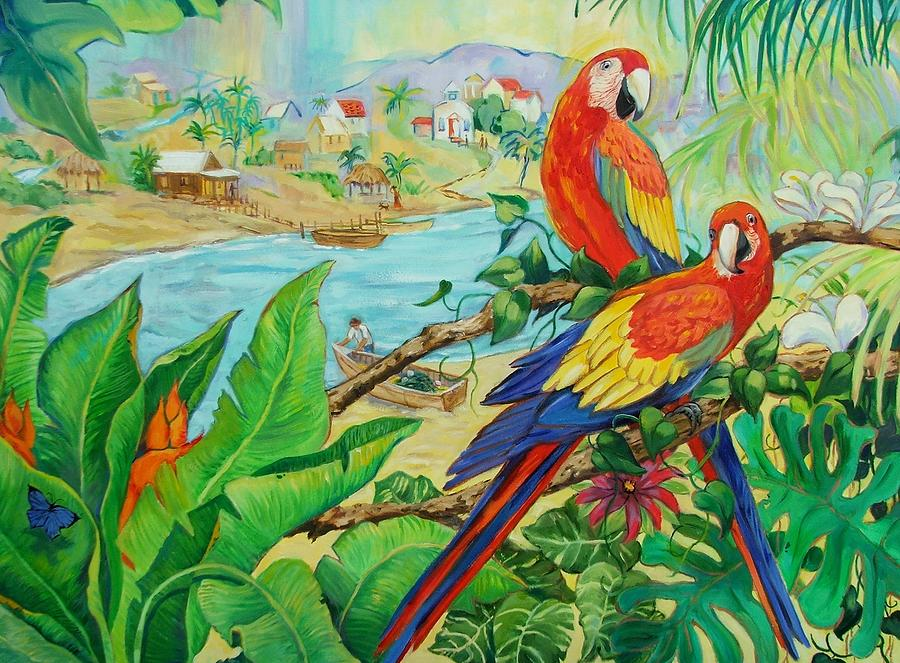 Birds Painting - Macaws by Dianna Willman