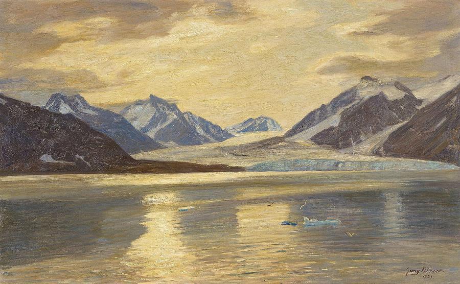 Nature Painting - Macco, Georg 1863 Aachen - 1933   Glacier On Spitsbergen by Aachen