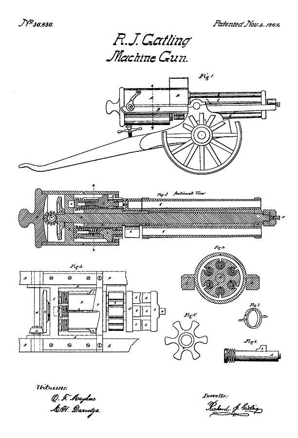 Gatling Gun Diagram on