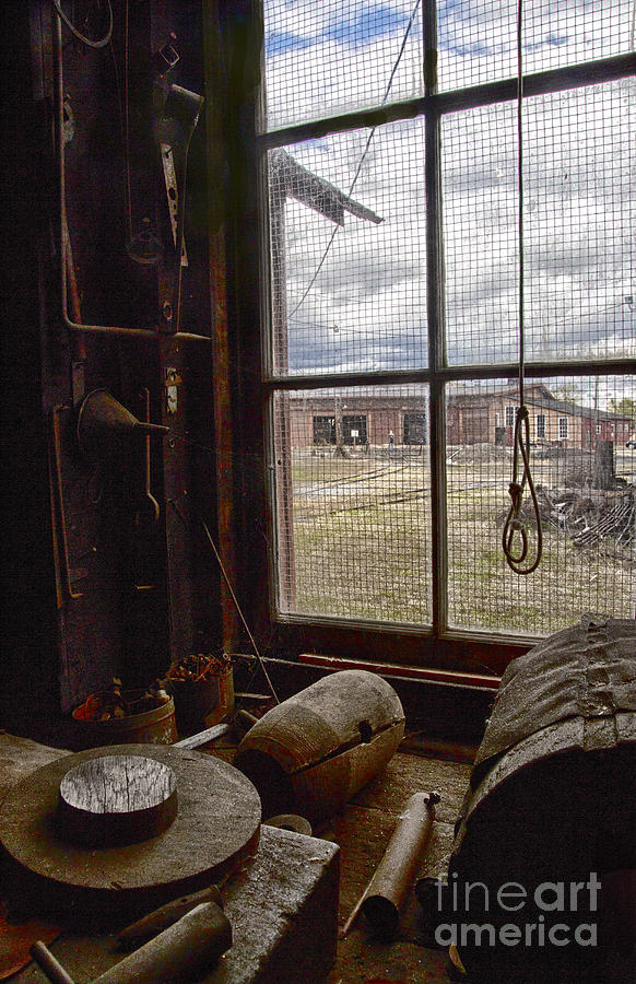 Railroad Photograph - Machine Shop Window Still Life 4 by ELDavis Photography