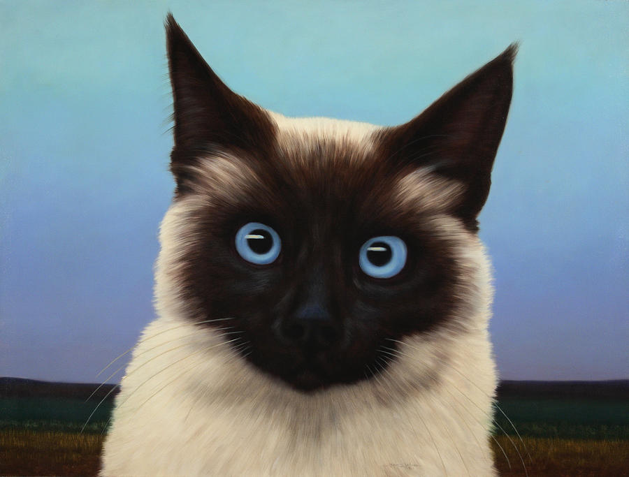Cat Painting - Machka 2001 by James W Johnson