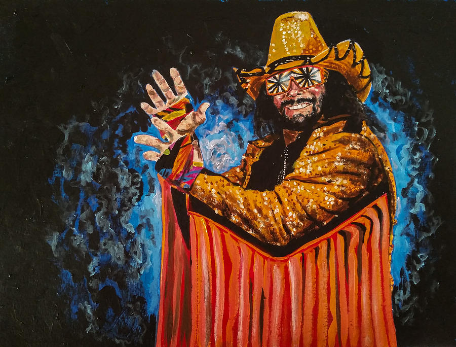 Macho Man Randy Savage Painting By Joel Tesch
