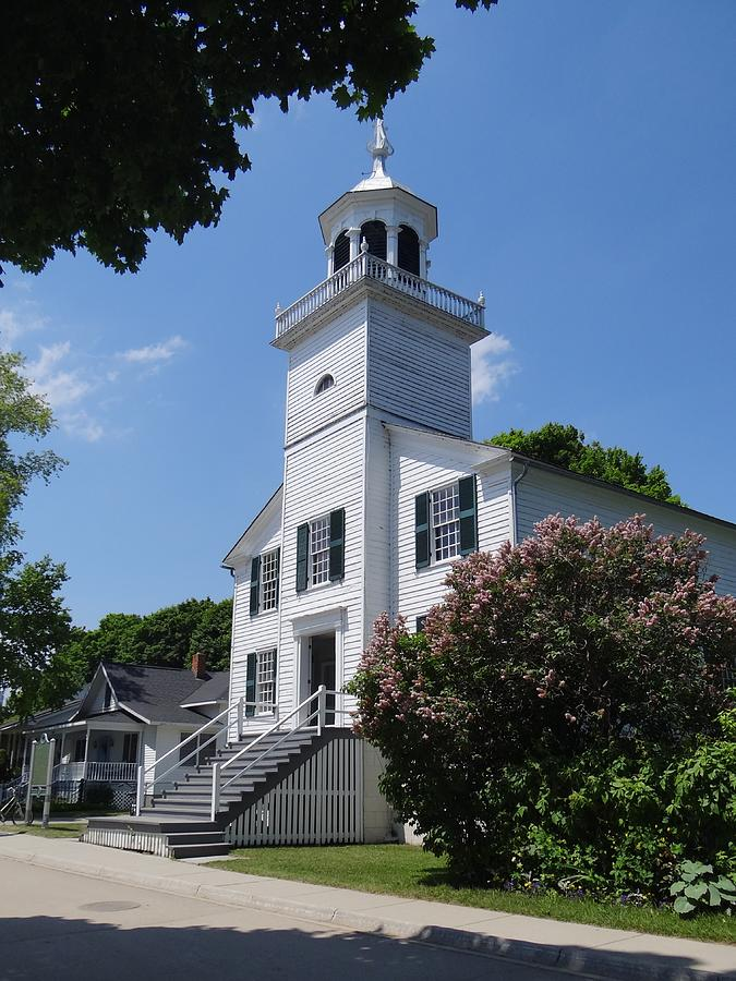 Mackinac Island Mission Church by Keith Stokes
