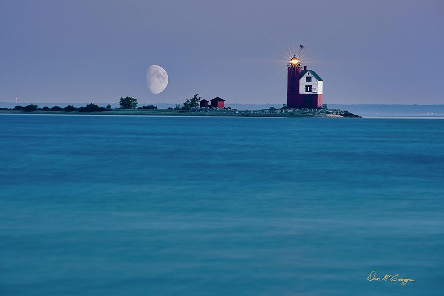 Mackinac Moon by Dan McGeorge