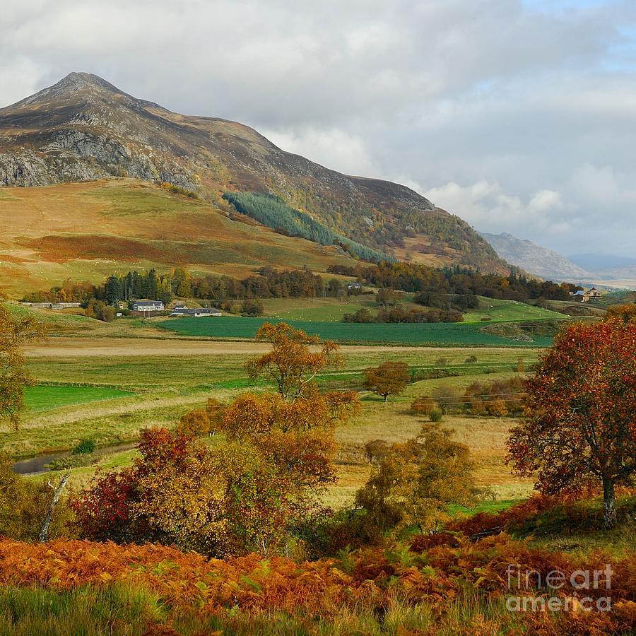 Scot Photograph - Macpherson Autumn - The Clan Macphersons Seat  by John Kelly