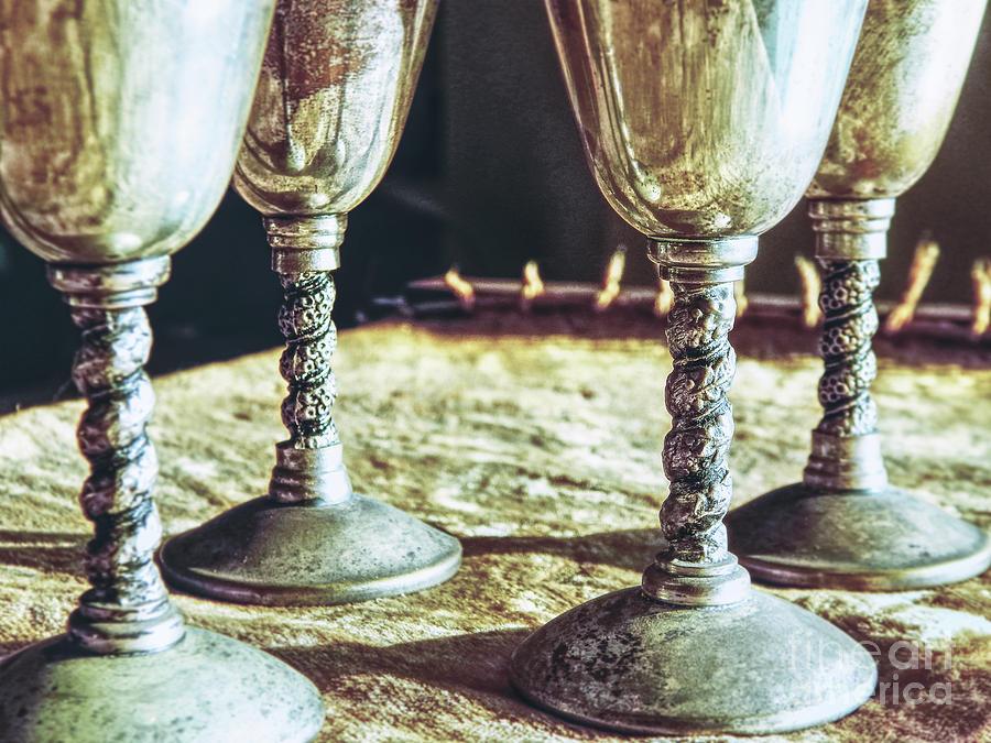 Macro Photograph - Macro Goblets Still Life by Phil Perkins