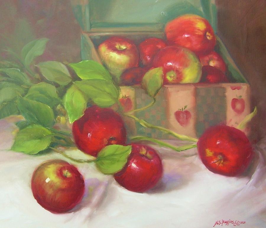 Apples Painting - Macs n A Box by Naomi Dixon